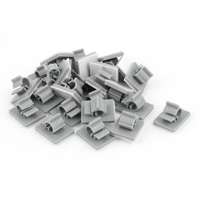 25pcs 6mm 7mm Cable Wire Holder Adhesive Clips Clamps Organizer Gray ...