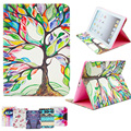 For Apple iPad 6 iPad Air2 Painting Print Flip PU Leather Case Tablet Cover With Cute Wallet Card Holder