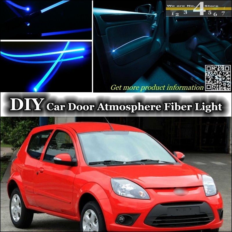 For Ford Ka Sport Ka Mk Interior Ambient Light Tuning Atmosphere Fiber Optic Band Lights Inside Door Panel Illumination Refit In Decorative Lamp From