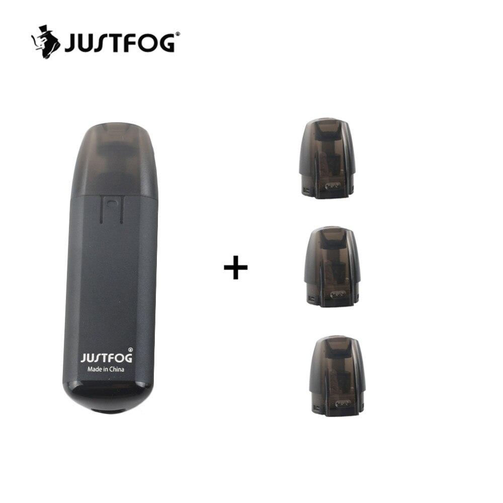 Justfog Minifit Pod 370 mAh batterie intégrée Électronique Kit de démarrage cigarette avec 3pcs1. 5 ml Capacité Pod Cartouche Kit
