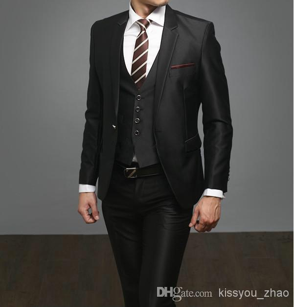 black slim fit tuxedo page 1 - plaid