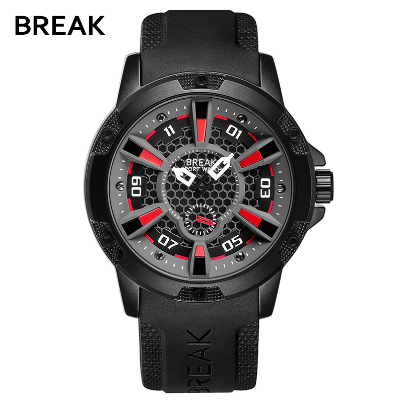 Break Waterproof Top Luxury Brand Mens Watches Military Sport Watch Man Rubber Clock Men Quartz Wrist Watch Relogio Masculino top brand luxury watch men full stainless steel military sport watches waterproof quartz clock man wrist watch relogio masculino