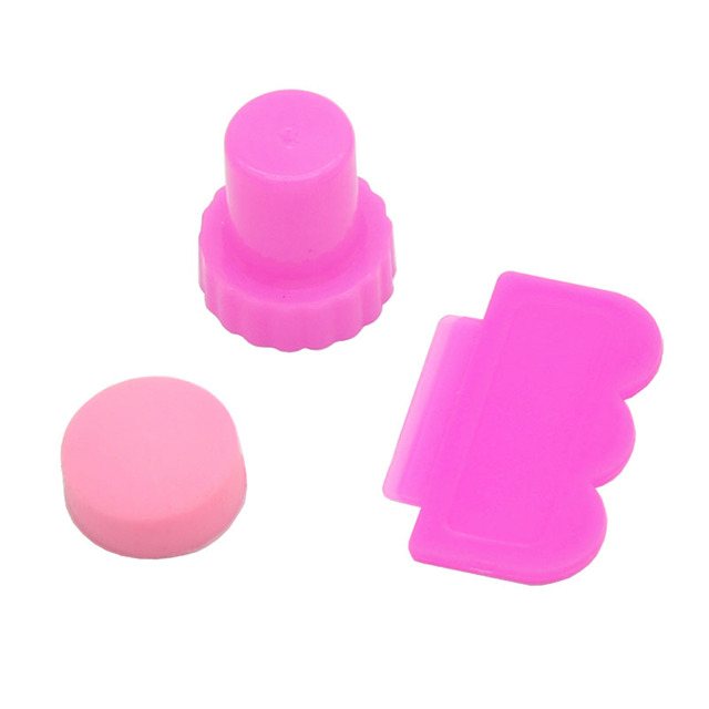 Stunning Nail Art Pink Stamping Template