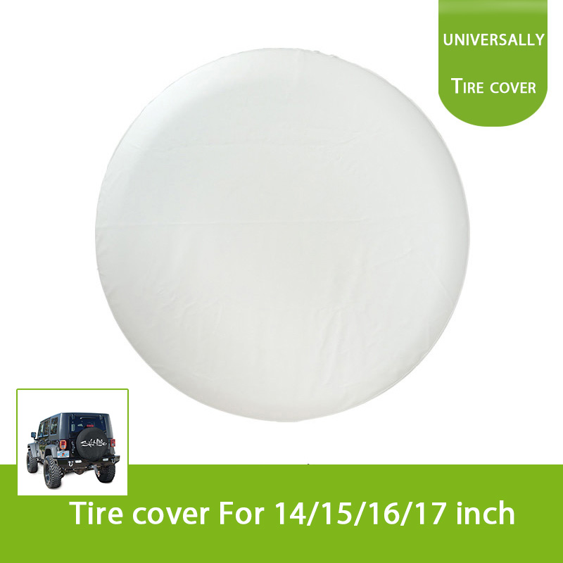 Universal White 23 to 33 4WD Spare Wheel Tire Cover for Honda Toyota Jeep Suzuki Hummer