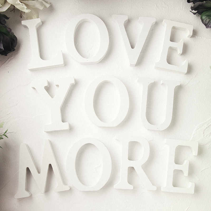 עץ Mr Mrs אהבת אלפבית עץ מכתב לחתונה בית תפאורה קישוט מסיבת DIY יום הולדת אבזר אספקת 62019