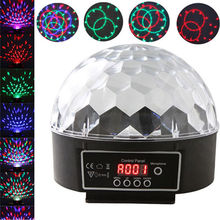 Crystal Magic Ball Led Stage Lamp Sound Control Modes 7 Colors 27W Stage Lighting Disco Laser Light Party Lights Lumiere Laser