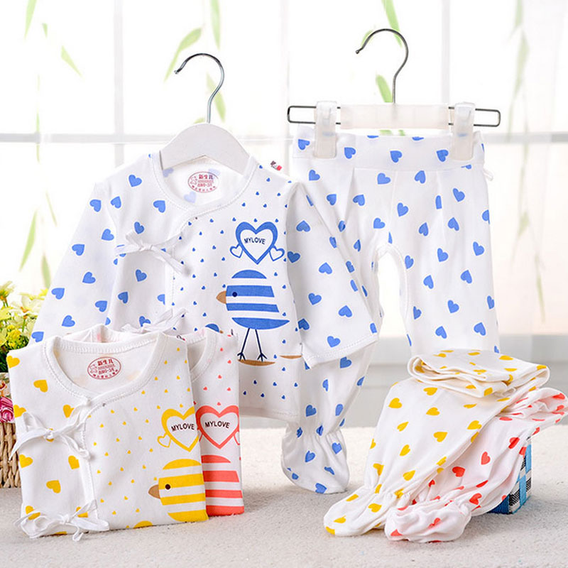 0-3 months newborn baby clothes spring summer brand cotton casual sports suit for infant babys clothing love boys girls sets