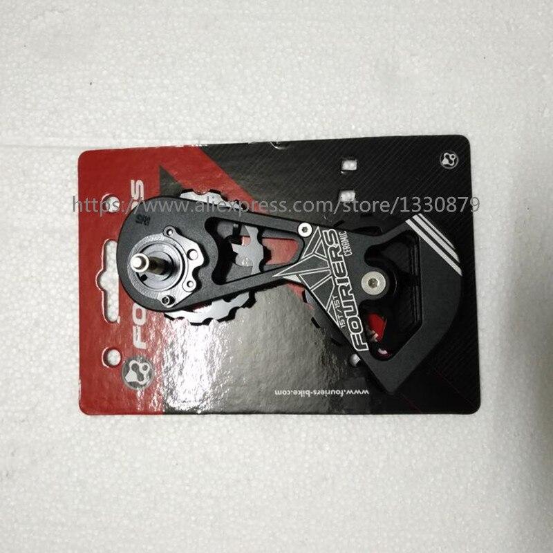 FOURIERS CT-DX017-SR1515 hybride en céramique route transmission vélo arrière dérailleur poulies 15 T-15 T utiliser rouge/FORCE/RIVAL