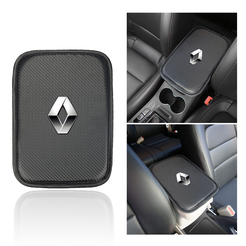 Car Console Box Armrest Pad Protective Mat Cover Cushion Arm Rest Soft Pillow Case For Renault Duster Megane 2 Logan Clio