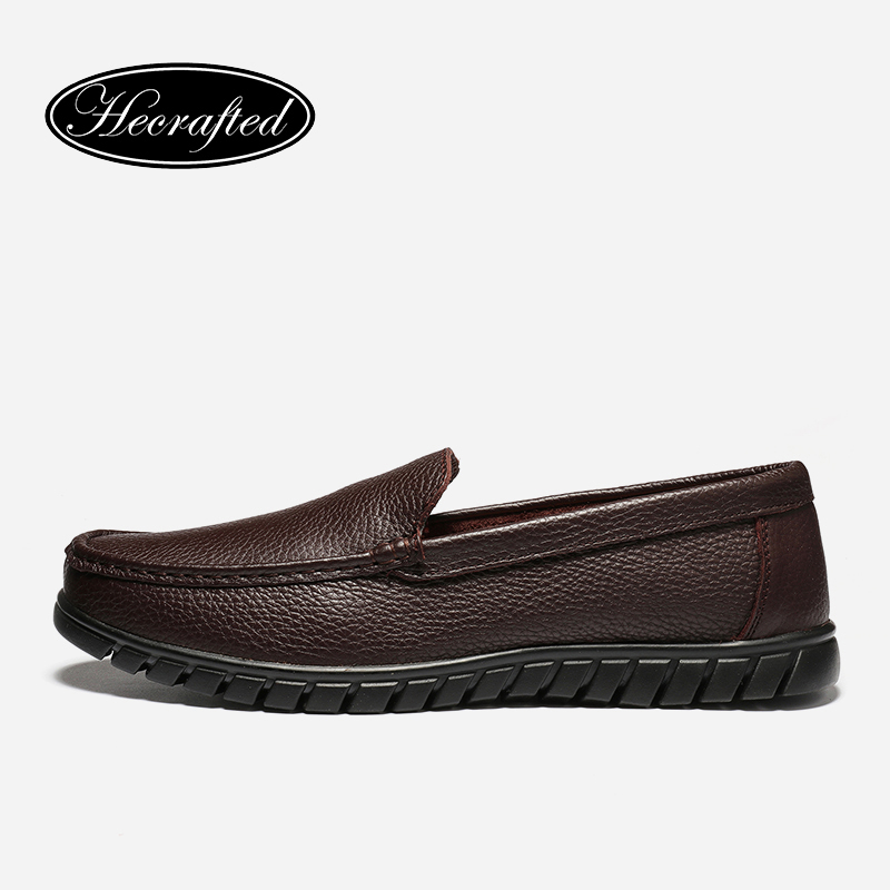 Size 36~47 Full Grain Leather Men Loafers Great Quality soft Genuine Leather Men Flat Shoes #8099