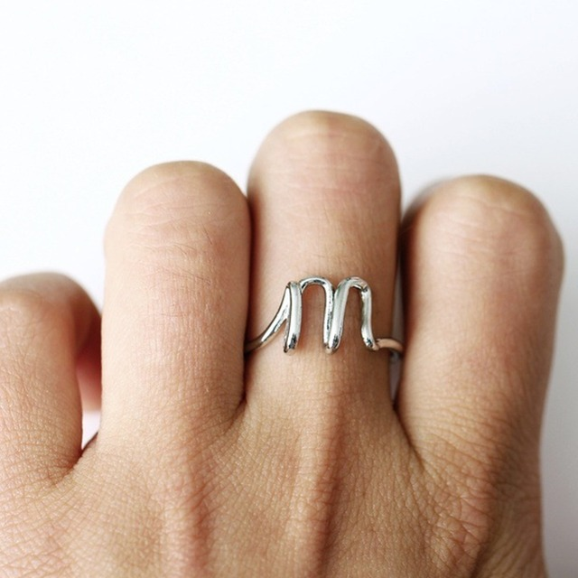 New Fashion Lover Friendship Name Letter Ring for Women Men Simple Adjust Custom Rings for Anniversary Engagement Jewelry#288872
