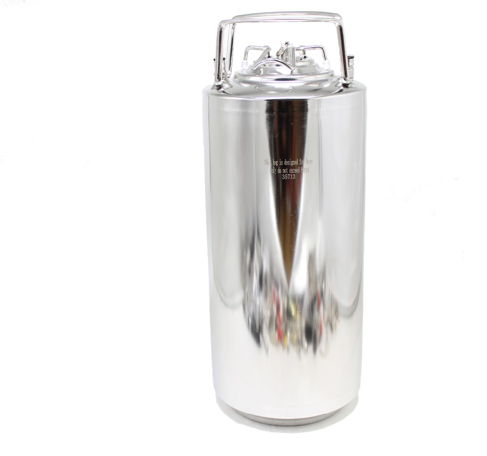 18.5L 304 Stainless Steel Ball Lock Keg Soda Making Homebrew Beer Thickness 1MM Cornelius Style Beer OB Keg Easy To Clean
