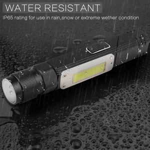 Image 5 - 8000LM Led Flashlight Handfree Dual Fuel 90 Degree Twist Rotary Clip Waterproof Magnet Mini Lighting LED Torch Outdoor
