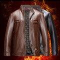 2017 men collar PU leather Leisure fashion autumn coat