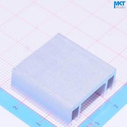 100 Шт. 24 мм х 10 мм х 25 мм Чистый Алюминий Охлаждения Fin Радиатора Теплоотвод