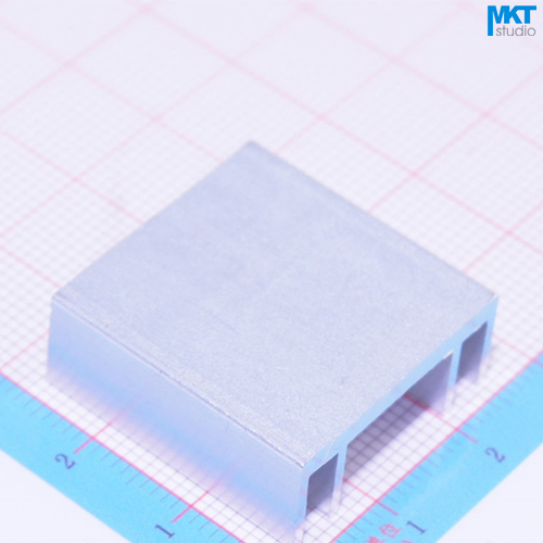 100Pcs 24mmx10mmx25mm Pure Aluminum Cooling Fin Radiator Heat Sink