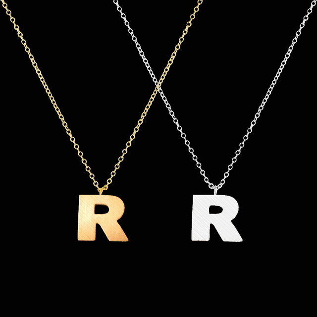 Wholesale free shipping initial r name simple but elegant high wholesale free shipping initial r name simple but elegant high quality stainless steel jewelry gold silver thecheapjerseys Gallery
