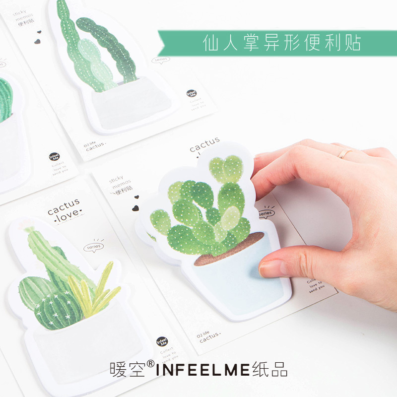 1 PCS New Cute Creative Cactus Love Memo Pad Sticky Notes Memo Notebook Stationery Note Paper Stickers School Supplies