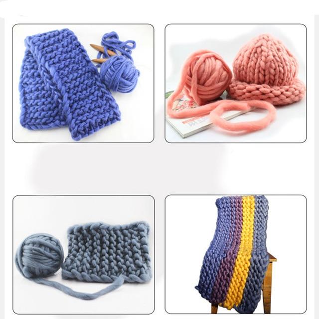 Winter Merino Wool Yarn Felt DIY Acrylic Yarn Hand Knitting Cotton Line  Crochet Thread Super Chunky Thick Soft Arm Knitting Wool 113773bcd