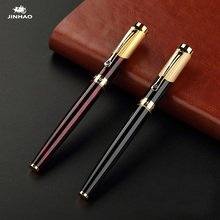 Jinhao 9009 Luxury Gold Rollerball Pen with Diamond Clip Smooth Metal Ballpoint Pen for Student School Supplies Free Shipping недорого