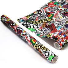 150x50CM Cartoon Sticker Bomb Wrap Sheet Decal Film Fits Motorcycle Auto Car Mobile Phone Laptop Wall Suitcase Scooter ...