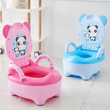 цена на Baby Pot For Children Boys Potty Toilet Seat Baby Potty Training Girls Portable Toilet Bedpan Comfortable Backrest Cartoon Pots