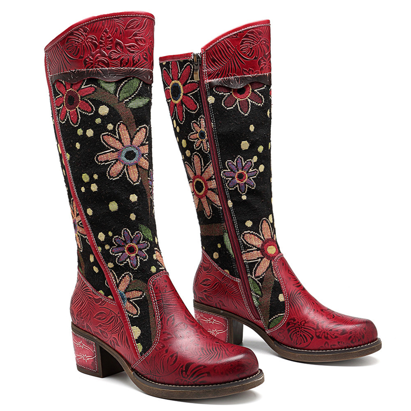 Vintage Patchwork Western Cowboy Boots  1