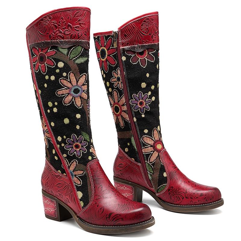 Vintage Patchwork Western Cowboy Boots  1