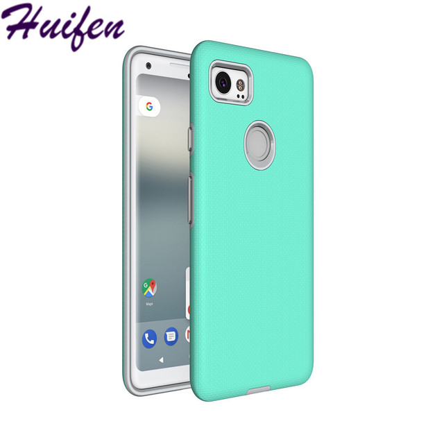 separation shoes 29564 6d34b US $4.19  For Google Pixel 2 XL Case 2 in 1 Non slip Case For Google Pixel  XL2 Armor Hybrid Hard PC+Soft TPU Silicone Cover Shell (XX414)-in Fitted ...