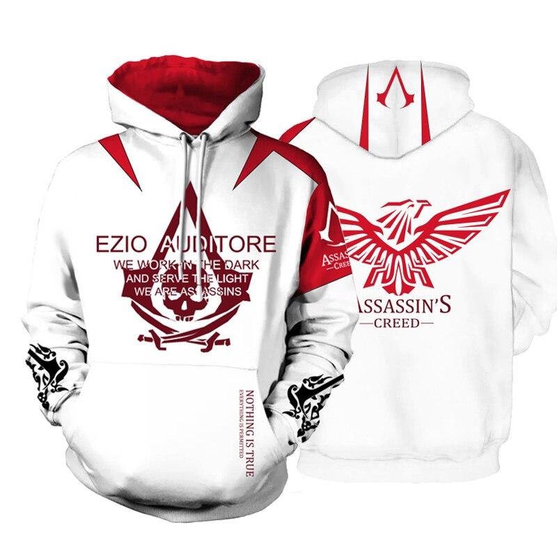 Drop Shipping Assassin Creed Hoodies 3D Cool Printed Streetwear Hooded Unisex Long Sleeve Autumn Winter Pullover Sweatshirt ...