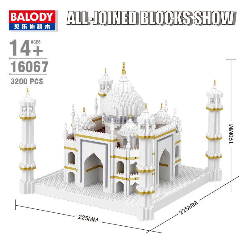 Balody 4300pcs Vasily Church DIY Diamond Mini Building Nano Blocks Bricks Toys