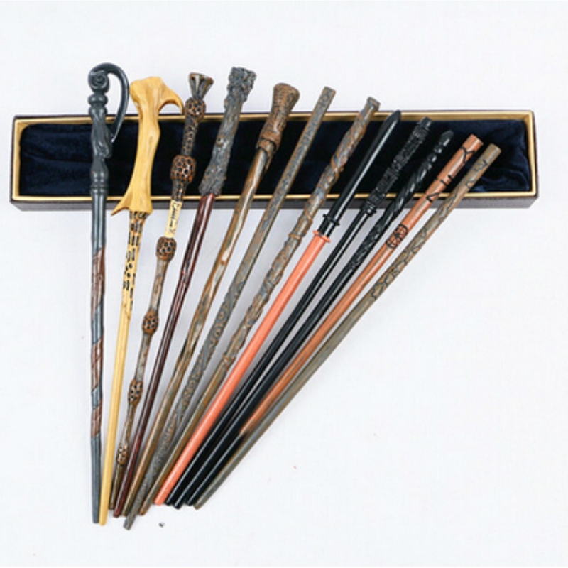 Original Ver. Quality Metal Core Deluxe COS Dumbledore Voldemort Magic Wand of Magical Stick with Gift Box pack of Harry potter