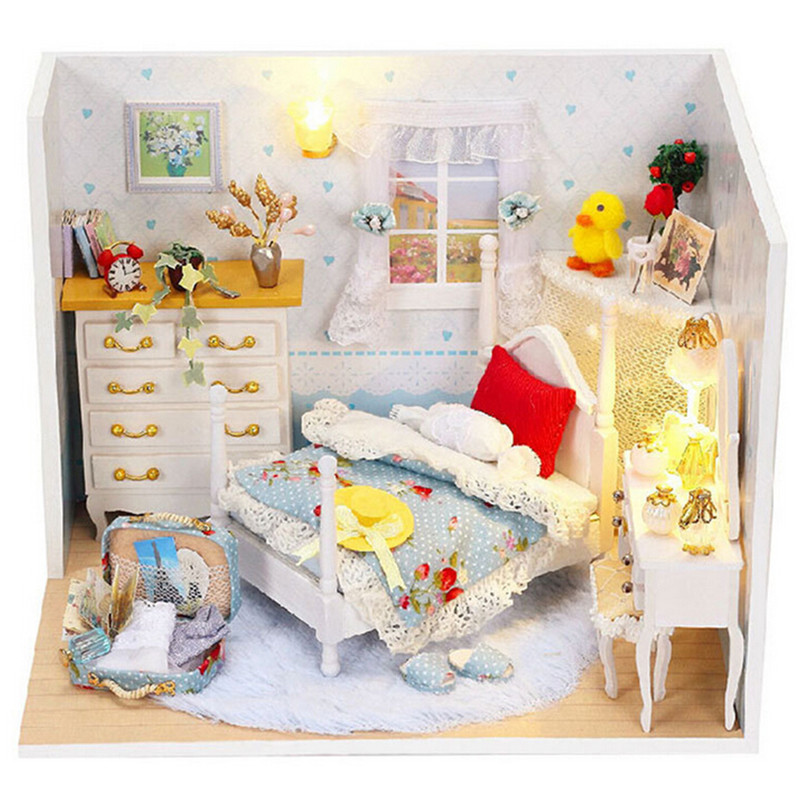 miniature dollhouse furniture diy wooden doll house model building kits toys for childrens giftlovely aliexpresscom buy 112 diy miniature doll house