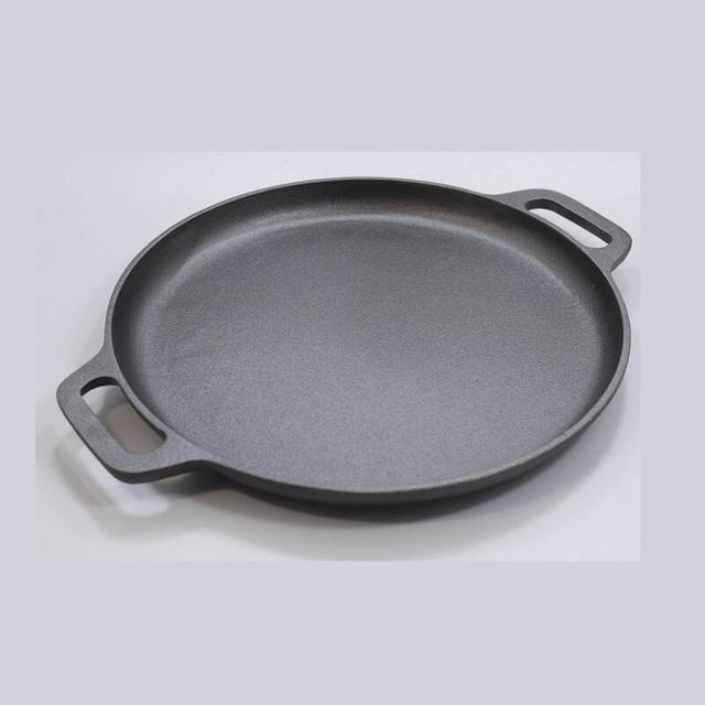 Wysokiej jakości 30CM żelazna patelnia bez powłoki pogrubienie tanie i dobre opinie Zupa stock pots wykonany z żeliwa Ekologiczne Ogólnego zastosowania do kuchenki gazowej i indukcyjnej 30JG