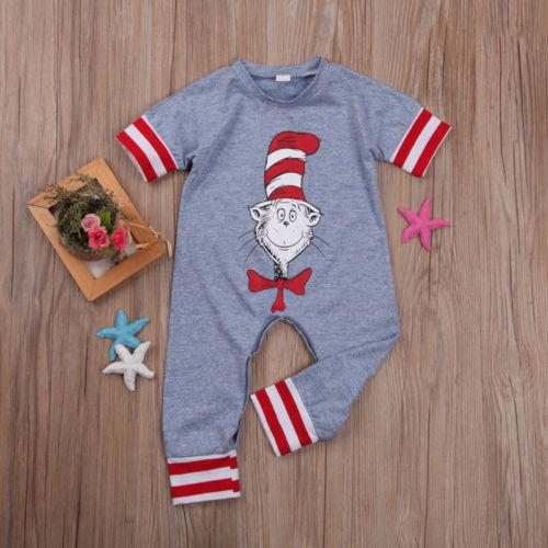 Odzież dziecięca dla niemowląt Szary pasek w paski Komiksowy - Odzież dla niemowląt - Zdjęcie 1