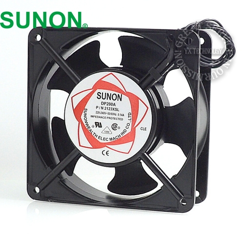 Sunon fan  cabinet cooling fan DP200A P / N 2123HSL 220V Axial Fans 120 * 120 * 38mm computador cooling fan replacement for msi twin frozr ii r7770 hd 7770 n460 n560 gtx graphics video card fans pld08010s12hh