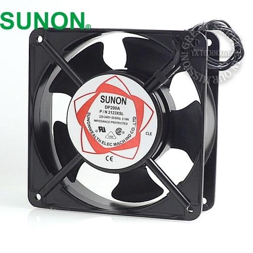 Sunon fan  cabinet cooling fan DP200A P / N 2123HSL 220V Axial Fans 120 * 120 * 38mm sunon axial blower fan 220v 12cm 120 120 25mm 12025 12cm case fan