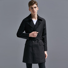 2018 autumn New Men high quality Wool Coat Wool Blends Men Casual Trench Coat Slim Fit Office Jackets lapel Coat Plus Size S-6XL cheap Turn-down Collar REGULAR Polyester op718 Kiby s STANDARD Broadcloth Full X-Long England Style Conventional Double Breasted