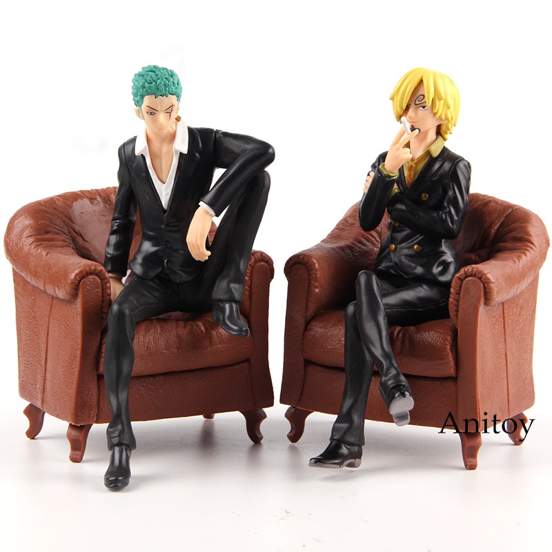 Anime One Piece Banpresto Figure Colosseum Roronoa Zoro / Vinsmoke Sanji PVC Action Figure One Piece Anime Collectible Model Toy