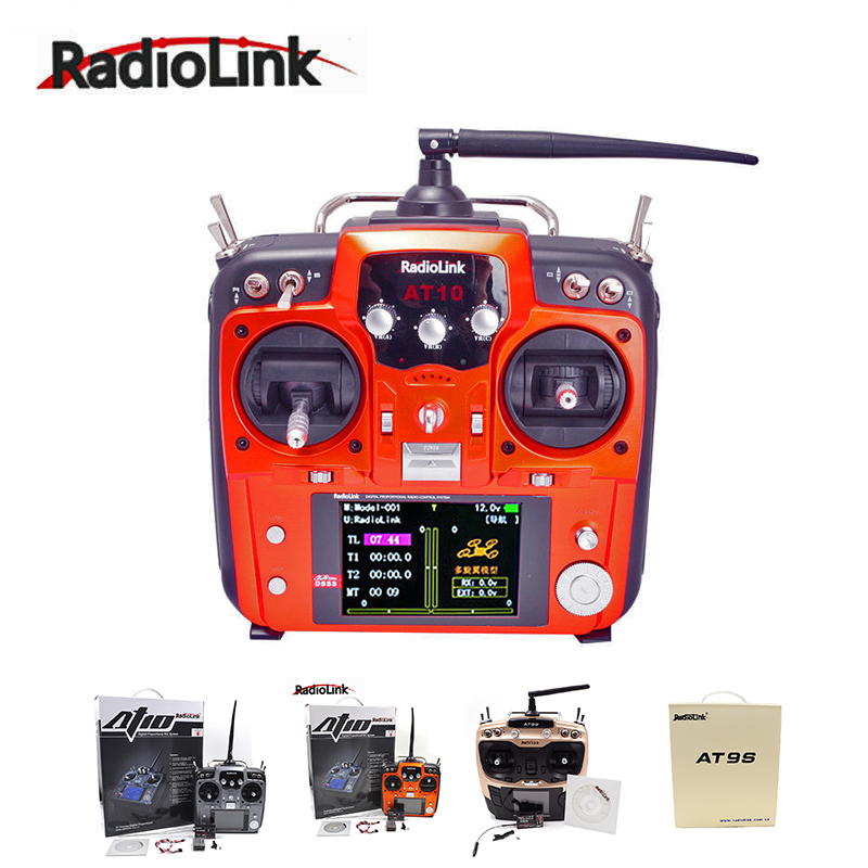 RadioLink AT9 AT9S AT10 II 2 4G 10CH Remote Control Transmitter R12DS Transmitter Receiver PRM 01