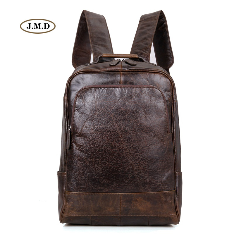 купить J.M.D Genuine Leather Causal Fashion Style Backpack Travel Bag for Youth Unique Style Laptop Daily Life Rucksack 7347C по цене 6926.97 рублей