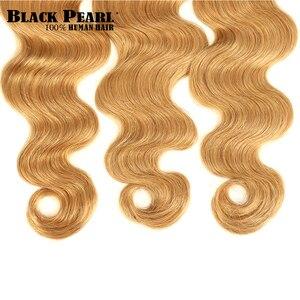 Image 5 - Black Pearl 2 Tone Color Ombre Brazilian Body Wave Bundles 1/3/4 Pcs Non Remy 100% Human Hair Bundles T1B/27# T1B/30# T1B/99J#