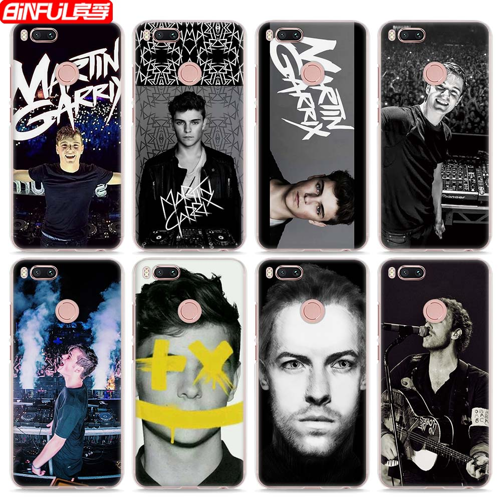 BiNFUL Hot Sale Famous DJ Martin Garrix style clear hard mobile phone shell Case for Xiaomi Mi 6 5X 5s for Redmi 4x 4A Note3 Not