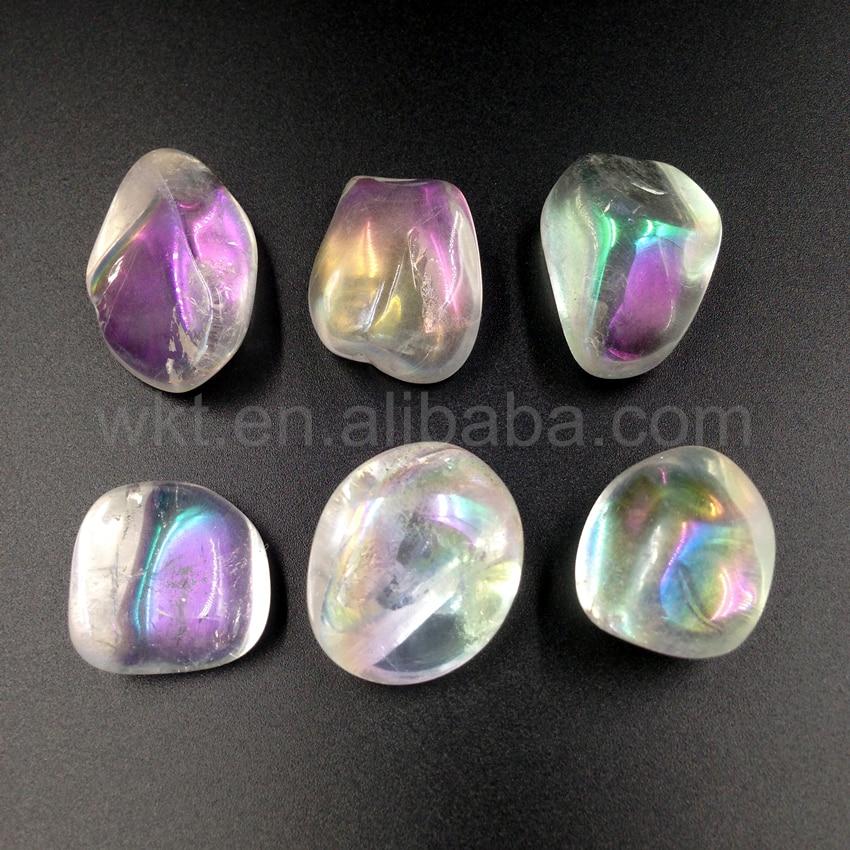 WT-G142 natural angel aura quartz ,raw angel aura quartz with vivid aura color free form aura quartz with color electroplated aura noir aura noir out to die