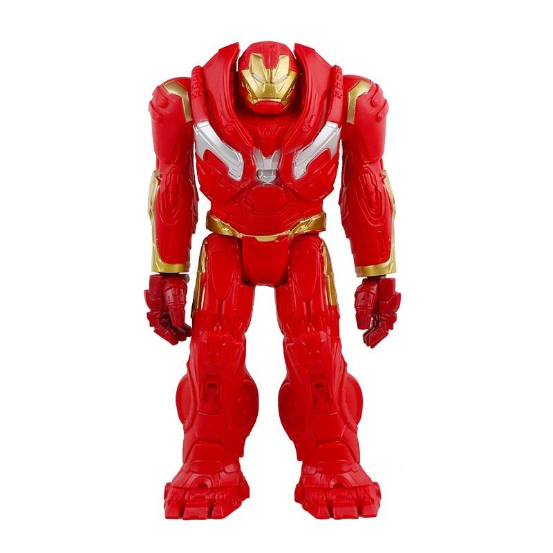 30 см Marvel Мстители игрушки танос Халк Бастер человек паук Железный человек Капитан Америка Тор Росомаха Черная пантера фигурка куклы - Цвет: hulkbuster no box