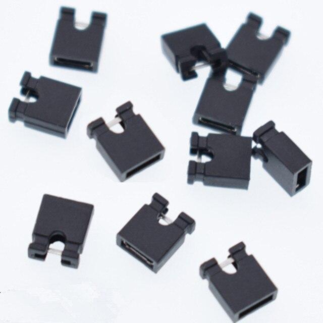 200 piezas Mini Micro puente tapa para cabezal de 2,54mm (shunts) Puente de bloque de cortocircuito