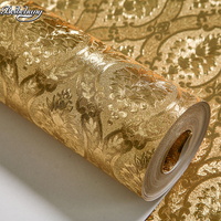 High End Luxury Home Furnishing Wallpaper Silver Foil Gold Bedroom Warm Living Room TV Background Wallpaper