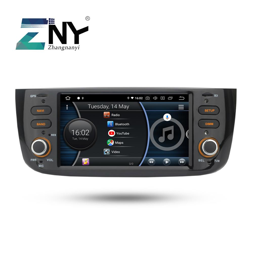 Android 8.1 Car Audio Video For Fiat Grande Punto Linea 2012 2013 2014 2015 Radio FM RDS WiFi GPS Navigation Rear Camera No DVD-in Car Multimedia Player from Automobiles & Motorcycles