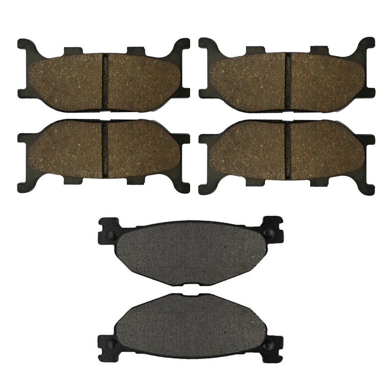 Motorcycle Front and Rear Brake Pads for YAMAHA XVS 1300 XVS1300 A Midnight Star 2007-2010  Black Brake Disc Pad motorcycle front and rear brake pads for yamaha fzr 400 a fzr400a 1990 brake disc pad