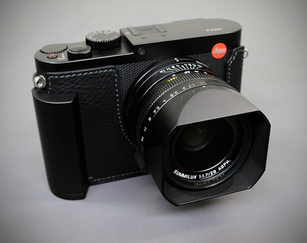 Milicase Handmade Genuine Leather Camera case Half Bag Body For Leica Q2 q2Milicase Handmade Genuine Leather Camera case Half Bag Body For Leica Q2 q2
